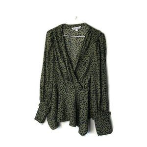 Walter Baker Size Small Green & Black Blouse